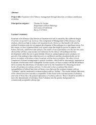 Fusarium Wilt - Gordon - California Leafy Greens Research Program