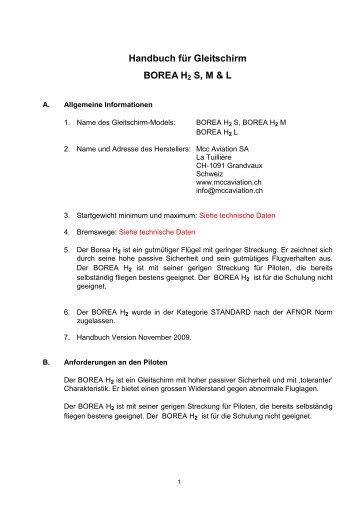 Notice Boréa H2 allemand - Free