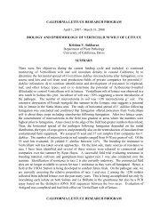 Biology and Epidemiology of Verticillium Wilt of Lettuce - Subbarao