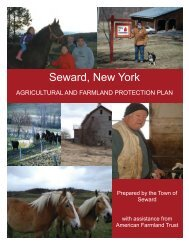 Town of Seward Draft Agriculture and Farmland ... - Schoharie County