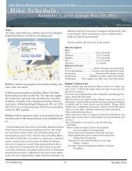 Hike Schedule: - Blue Mountains Bruce Trail Club