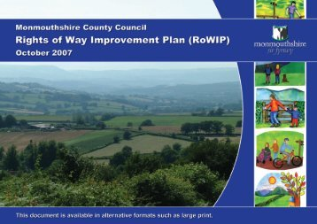 Rights of Way Improvement Plan (ROWIP) - Monmouthshire County ...