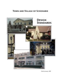 Town and Village of Schoharie Design Standards - Schoharie County