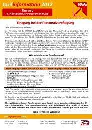 Einigung Personalverpflegung - NGG-Region Aachen