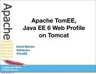 Apache TomEE, Java EE 6 Web Profile on Tomcat - ApacheCon