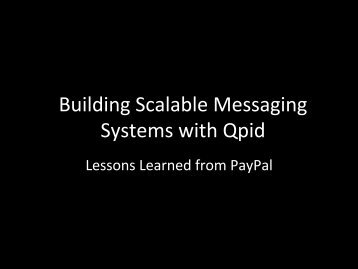 16:00-Building scalable, flexible messaging systems ... - ApacheCon