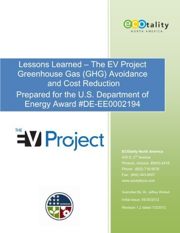 Greenhouse Gas (GHG) Avoidance and Fuel Cost ... - The EV Project