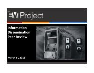 Information Dissemination Peer Review - The EV Project