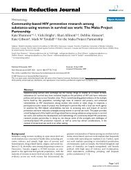 Community-based HIV prevention research among substance-using ...
