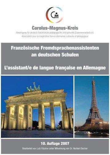 Französische Fremdsprachenassistenten an deutschen Schulen L ...