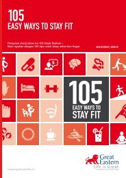 105 Easy Ways To Stay Fit - Great Eastern Life