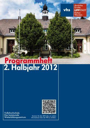 Programmheft 2. Halbjahr 2012
