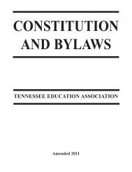 Constitution and Bylaws - Tennessee Education Association