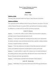 Bylaws - Tennessee Education Association