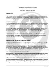 Tennessee Education Association Executive Director Vacancy