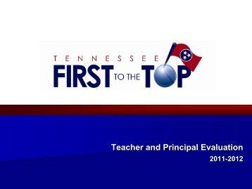 Teacher and Principal Evaluation Briefing - TN.gov