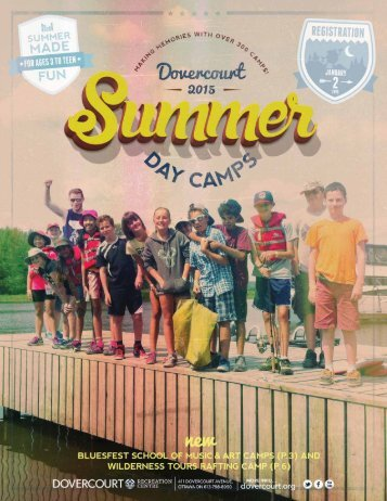 Dovercourt Recreation Centre Summer 2015 Day Camps