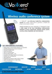 Wireless audio conference system - Vokkero