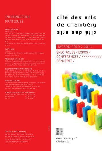 saison 2010 > 2011 informations pratiques - Ville de Chambéry