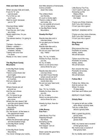 Wee sing and learn bugs lyrics