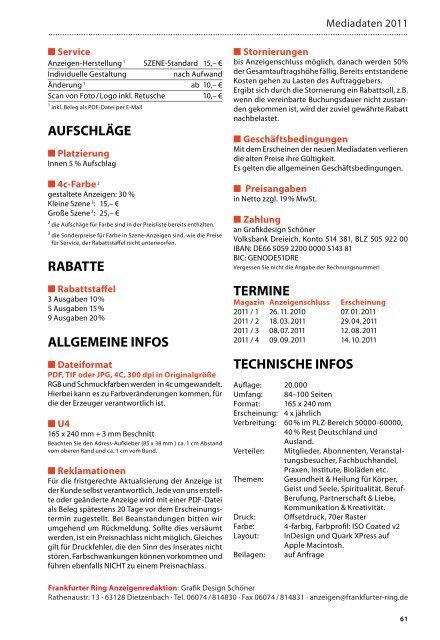 ausbildung 2010/2011 - Der frankfurter ring