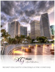 MIAMI'S EXCLUSIVE CONCIERGE & DMC COMPANY