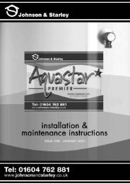 Installation & Maintenance Guide - Johnson & Starley