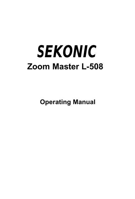 Old sekonic light meter manual programtrail.