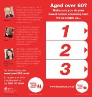 Aged over 60? - Beating Bowel Cancer