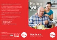 Eating Well - Beating Bowel Cancer