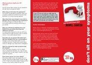 Don't Sit on your Symptoms leaflet - Beating Bowel Cancer