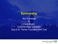 Survivorship - the GSTT Experience - Beating Bowel Cancer