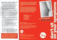? don't sit on your symptoms - Beating Bowel Cancer