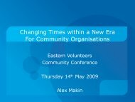 Changing Times within a New Era For Community Organisations