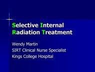 Selective Internal Radiation Treatment - Beating Bowel Cancer