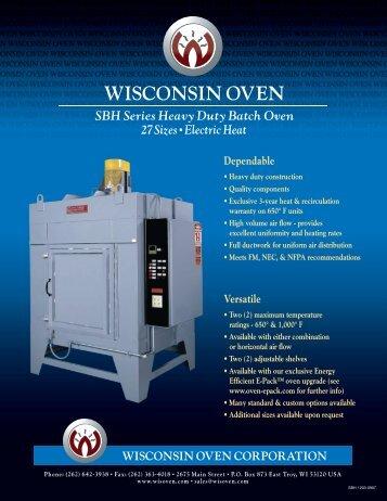SBH Series - Wisconsin Oven