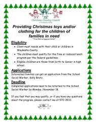 Providing Christmas toys and/or clothing for the children of families ...