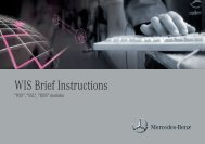 WIS Brief Instructions - Retailfactory Daimler ITR - Mercedes-Benz