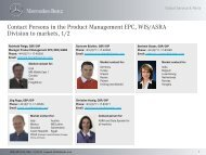 Contact Persons in the Product Management EPC, WIS/ASRA