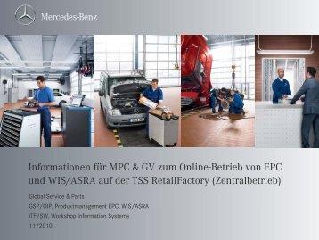 Informationen für MPC & GV zum Online-Betrieb von EPC und WIS ...