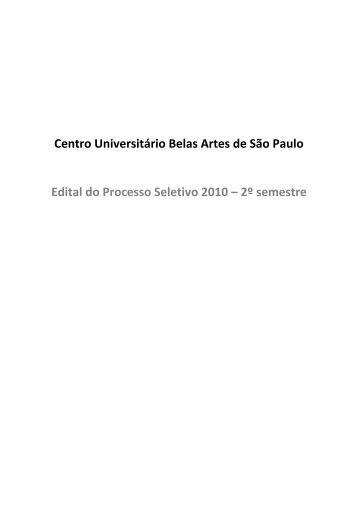 2º semestre - Centro Universitário Belas Artes de São Paulo