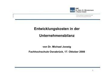 Vortrag Dr. Michael Joswig