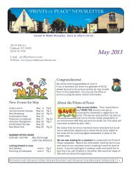 May Newsletter - Peace Lutheran Church