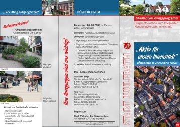 Stadtentwicklungsprogramm - Mwm Planungsgruppe