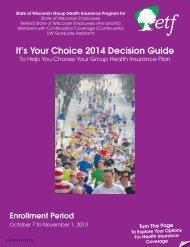 It's Your Choice 2014 Decision Guide (ET-2107d-14) - ETF