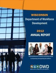 Department of Workforce Development ANNUAL REPORT