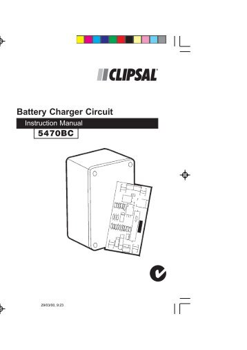 5470BC Battery charger circuit - Clipsal