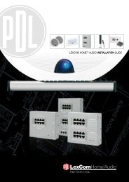 LexCom Home Audio Installation Guide, 70702 - Clipsal