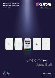 Integrally Switched Universal Dimmer Push Button. One ... - Clipsal
