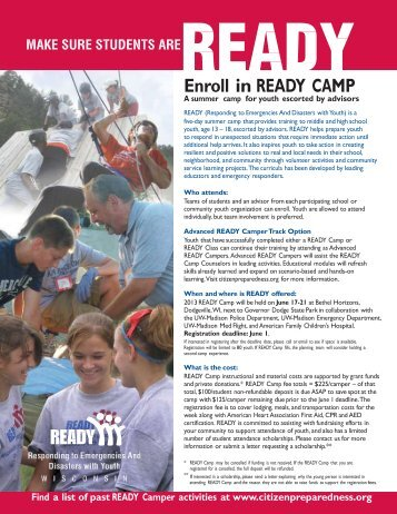 Enroll in READY CAMP - Ready Wisconsin